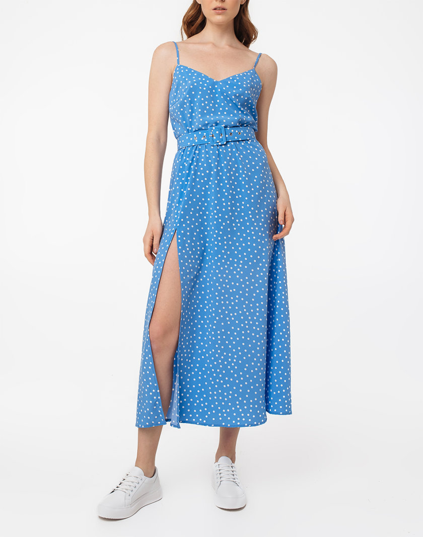 Платье с разрезом и открытой спиной MGN_1716BL, фото 1 - в интернет магазине KAPSULA