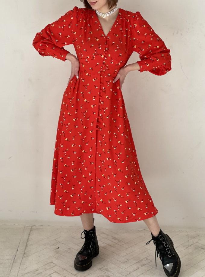 Платье миди на пуговицах WN_AIM_131, фото 1 - в интернет магазине KAPSULA