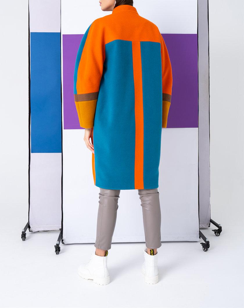 Пальто из шерсти с цельнокроеным рукавом TBC_SS21_2004w, фото 1 - в интернет магазине KAPSULA