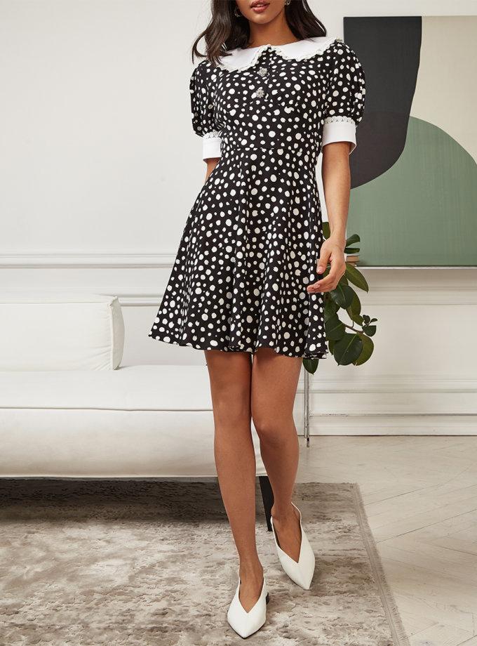 Платье Maria со съемным воротником MC_MY6121, фото 1 - в интернет магазине KAPSULA