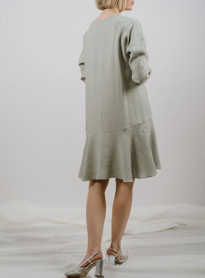 Платье мини с воланом MNTK_MTS2120, фото 1 - в интернет магазине KAPSULA