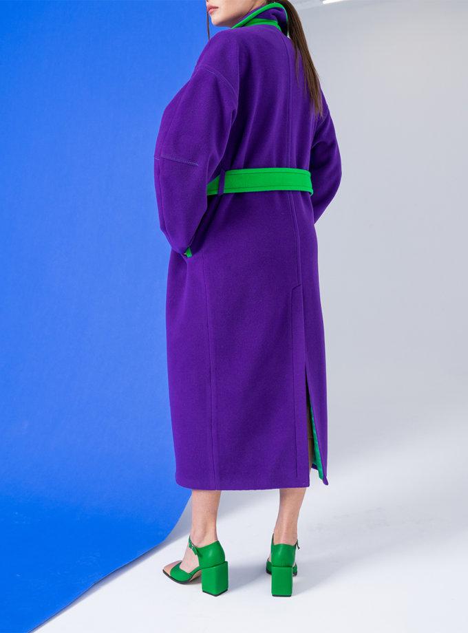Пальто из шерсти со спущенным плечом TBC_S_S21_026w, фото 1 - в интернет магазине KAPSULA