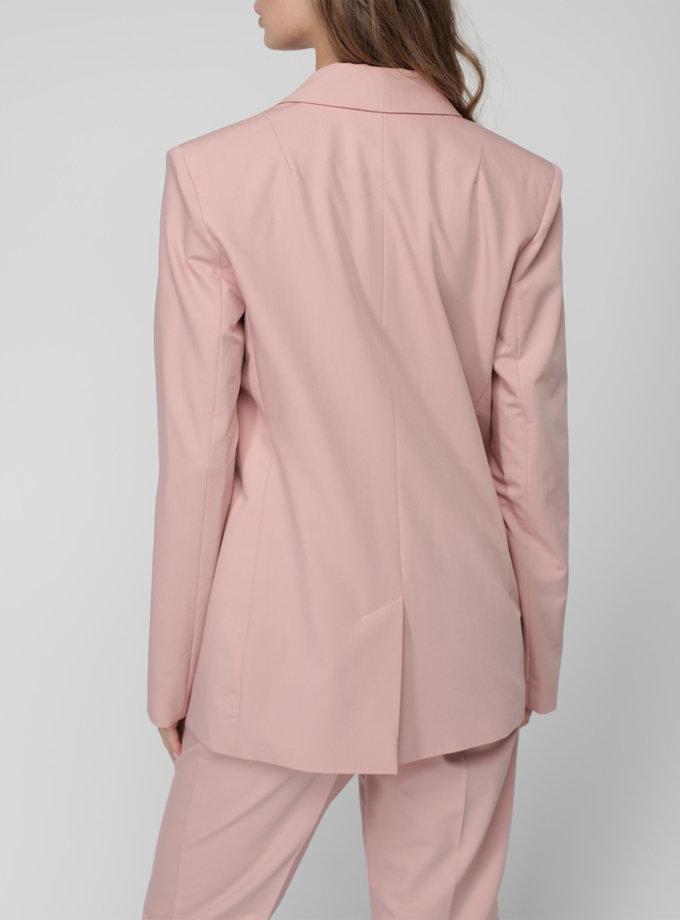 Однобортный пиджак прямого силуэта MISS_JA-013-pink, фото 1 - в интернет магазине KAPSULA