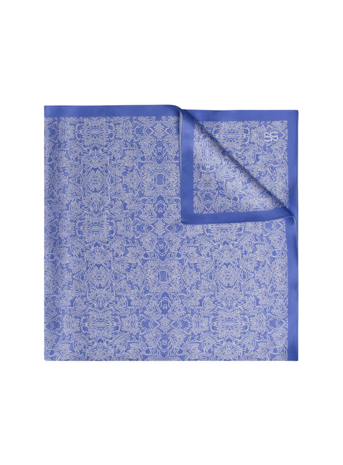 Шовкова хустка з ексклюзивним принтом 16х150 KNIT_30041-2, фото 1 - в интернет магазине KAPSULA