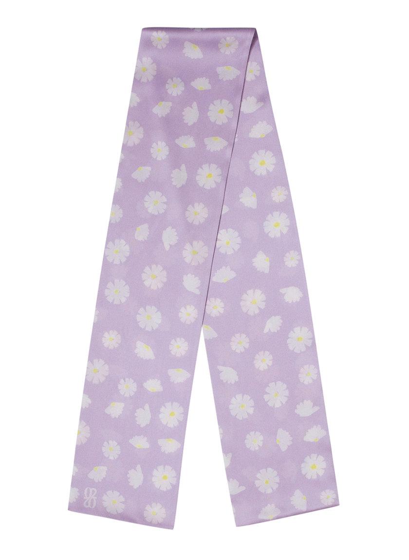 Шелковый платок с эксклюзивным принтом 16х150 KNIT_30034-4, фото 1 - в интернет магазине KAPSULA