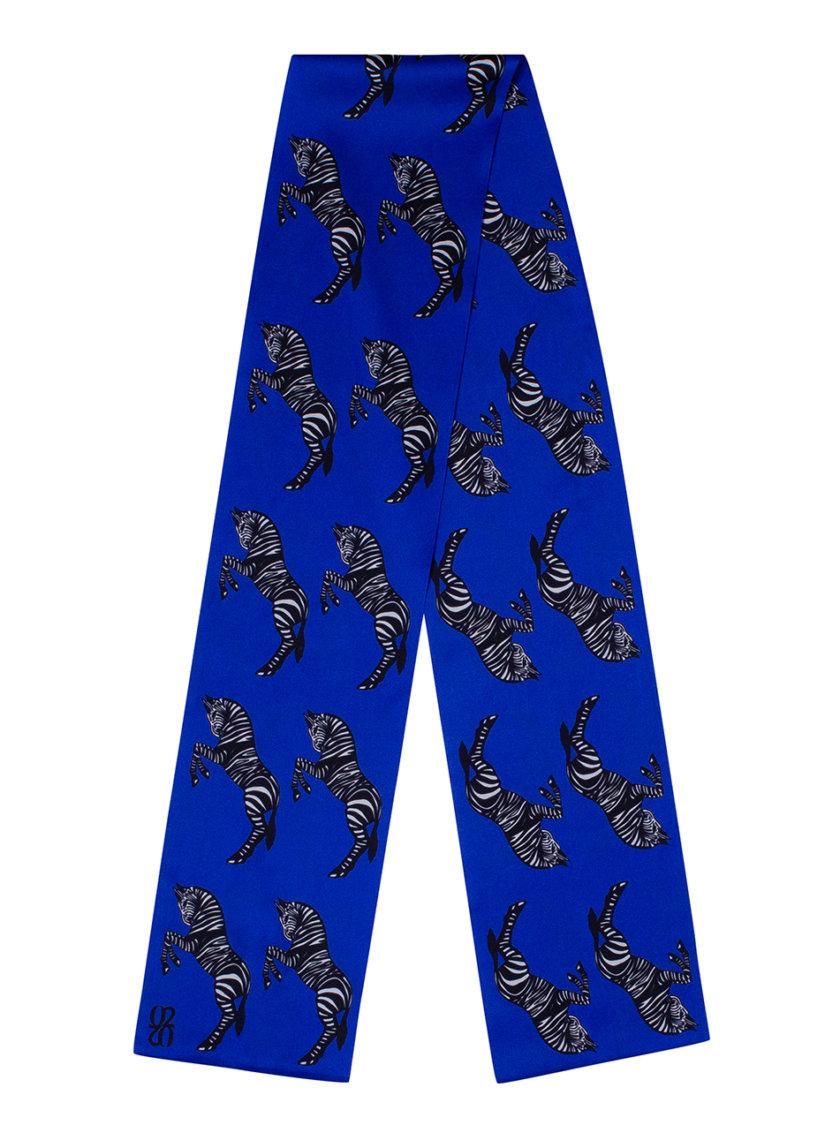 Шелковый платок с эксклюзивным принтом 16х150 KNIT_30036, фото 1 - в интернет магазине KAPSULA