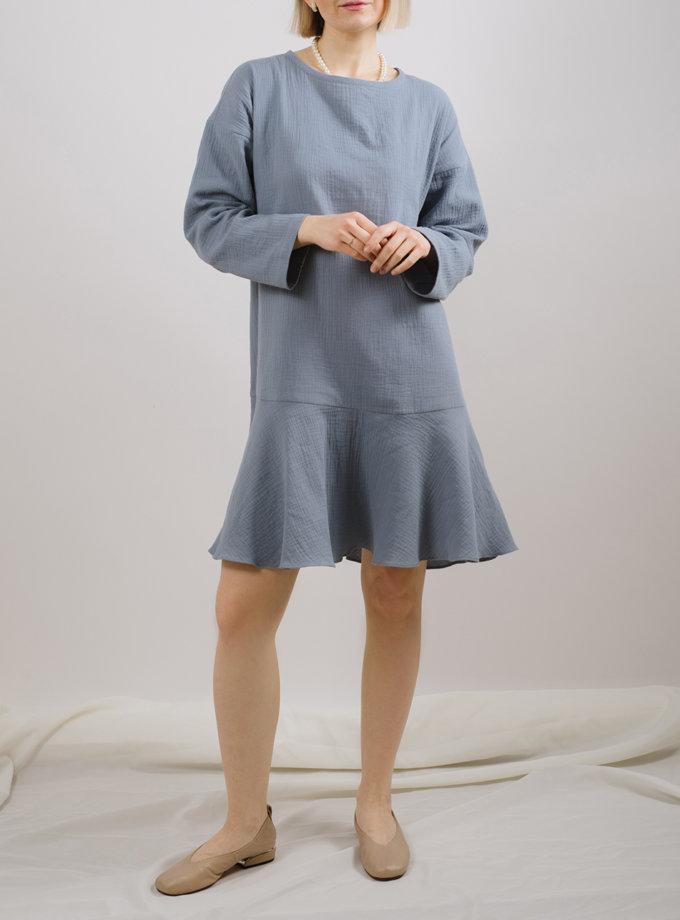 Платье миди с воланом MNTK_MTS2121, фото 1 - в интернет магазине KAPSULA