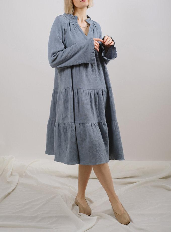 Хлопковое платье миди MNTK_MTS2122, фото 1 - в интернет магазине KAPSULA