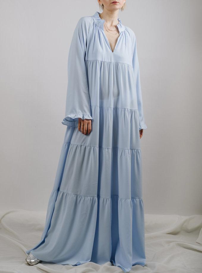 Многоярусное платье макси MNTK_MTS2114, фото 1 - в интернет магазине KAPSULA