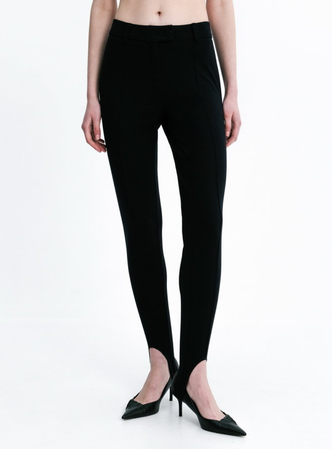 Брюки со штрипками BLACK SHKO_21008002, фото 1 - в интернет магазине KAPSULA