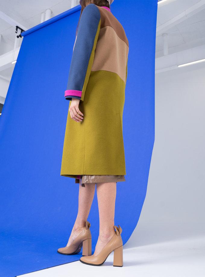 Пальто из шерсти прямого кроя TBC_SS21_2322w, фото 1 - в интернет магазине KAPSULA