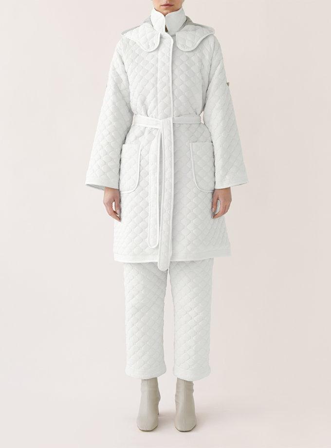 Стеганое пальто с поясом MRCH_Ekl04W, фото 1 - в интернет магазине KAPSULA