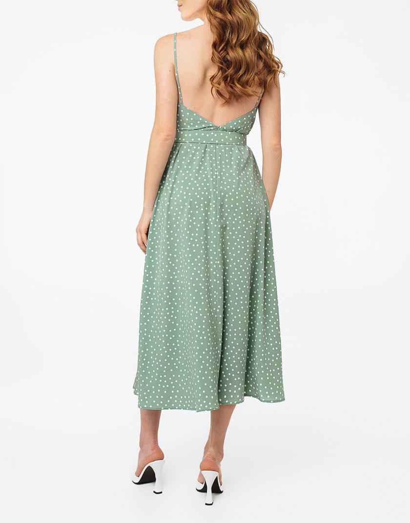 Платье с разрезом и открытой спиной MGN_1716MT, фото 1 - в интернет магазине KAPSULA