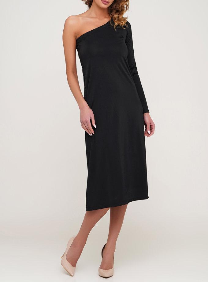 Платье миди на одно плечо AY_3146, фото 1 - в интернет магазине KAPSULA