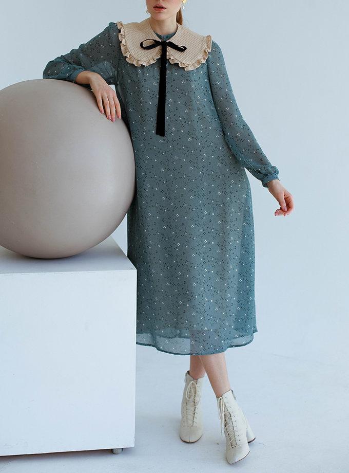Двухслойное платье с воротником или манишкой AY_3150, фото 1 - в интернет магазине KAPSULA