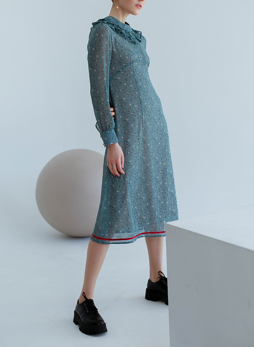 Шифоновое платье миди AY_3151, фото 1 - в интернет магазине KAPSULA