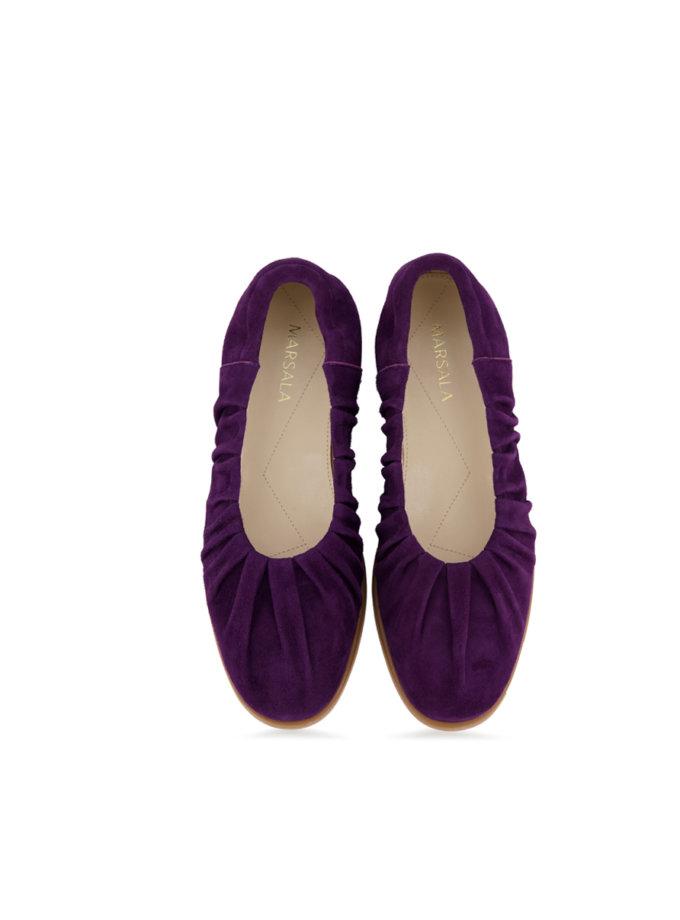 Замшевые балетки Tilda MRSL_644563, фото 1 - в интернет магазине KAPSULA