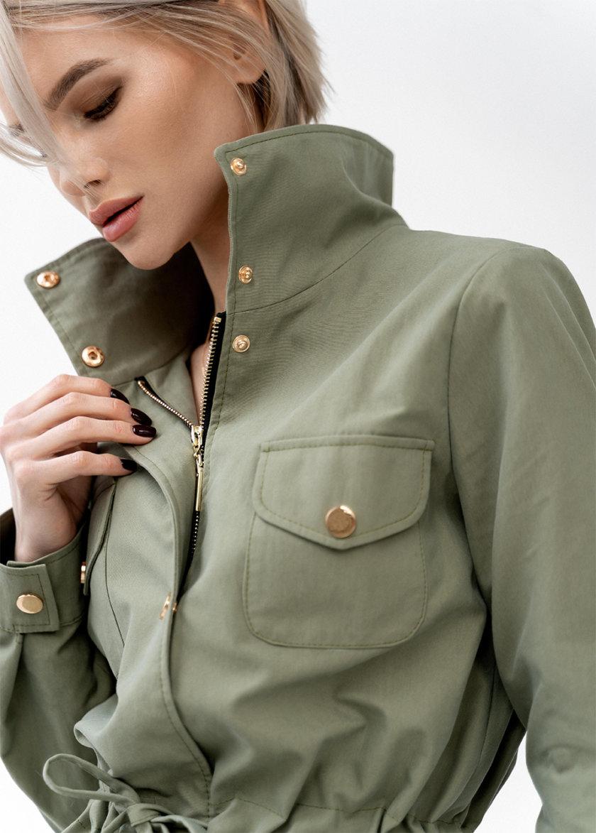 Хлопковая куртка-парка Lora на подкладке MC_MY0621-1, фото 1 - в интернет магазине KAPSULA