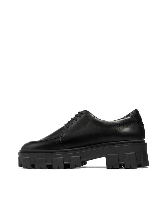 Шкіряні черевики Gaya Black LA_GAYA_BLACK, фото 1 - в интернет магазине KAPSULA