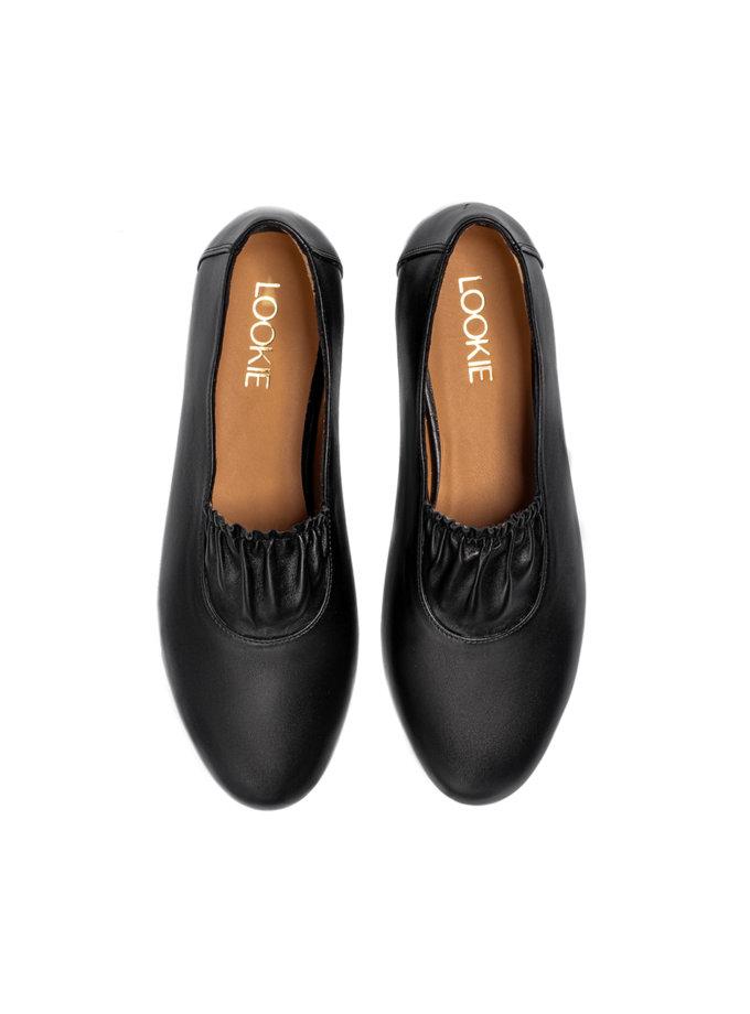Кожаные балетки Black LA_CHESHKI_BLACK, фото 1 - в интернет магазине KAPSULA