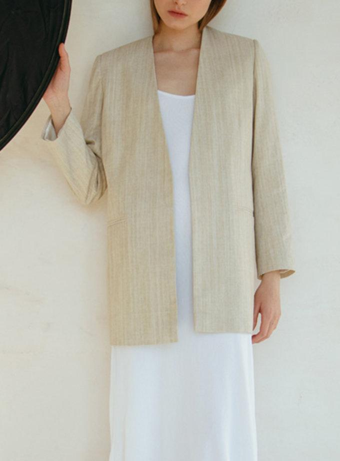 Жакет с акцентным поясом NM_440-1, фото 1 - в интернет магазине KAPSULA
