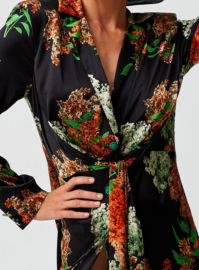 Платье макси с разрезом MF-SS21-9, фото 1 - в интернет магазине KAPSULA