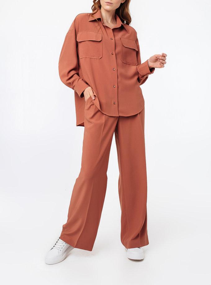Широкие брюки с защипами MGN_1775PH, фото 1 - в интернет магазине KAPSULA