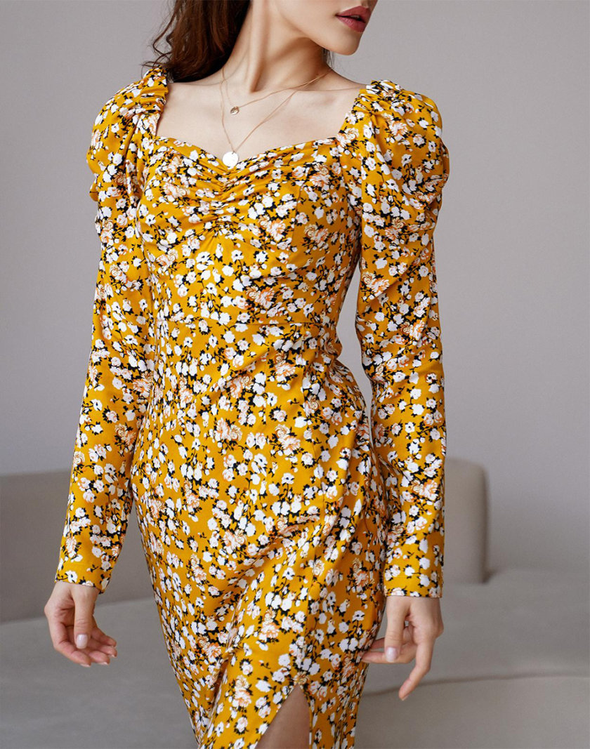 Платье Rebecca с рукавами-фонариками MC_MY3421-3, фото 1 - в интернет магазине KAPSULA