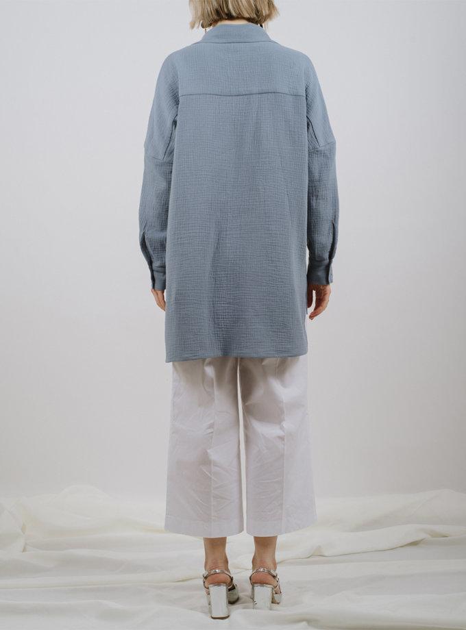 Хлопковая рубашка прямого кроя MNTK_MTS2128, фото 1 - в интернет магазине KAPSULA