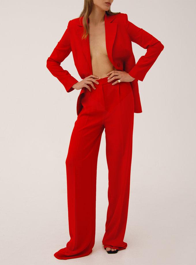 Прямі брюки з високою талією LAB_00048, фото 1 - в интернет магазине KAPSULA
