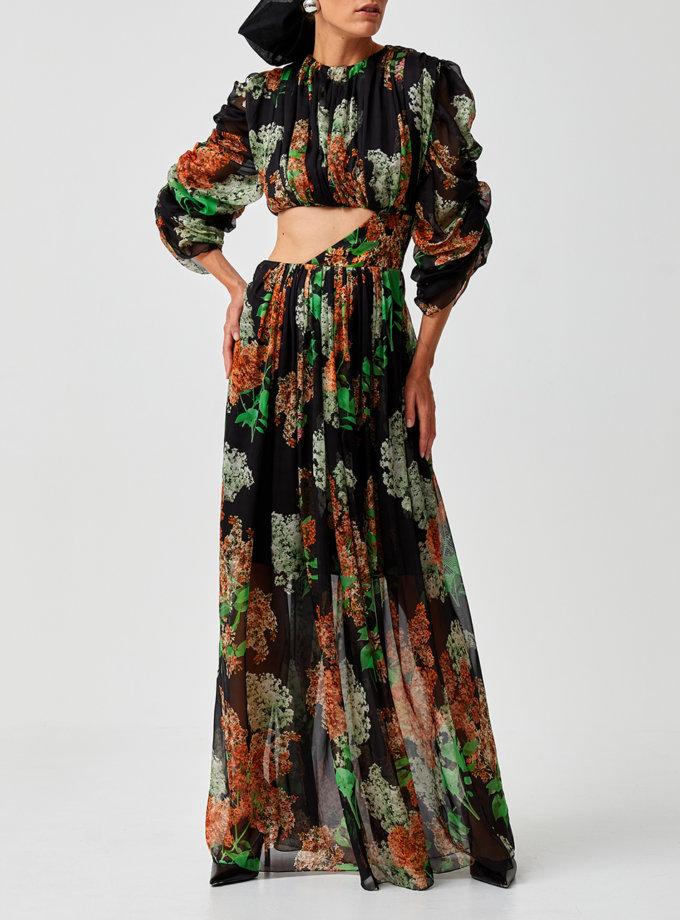 Платье макси с вырезом на талии MF-SS21-8, фото 1 - в интернет магазине KAPSULA
