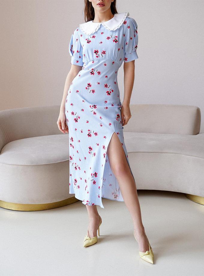 Платье Anna со съемным воротником MC_MY5421-1, фото 1 - в интернет магазине KAPSULA