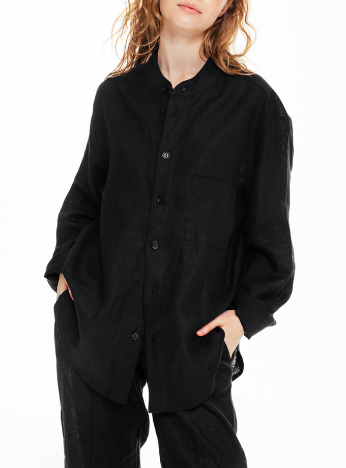Рубашка унисекс на пуговицах BLCGR_BLCN_682, фото 1 - в интернет магазине KAPSULA