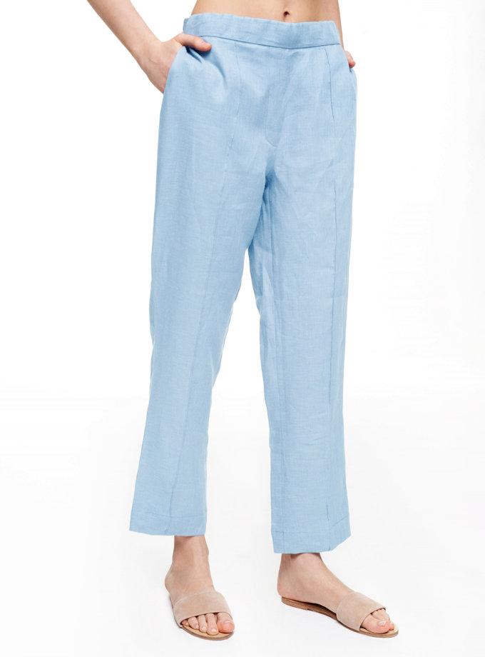 Льняные штаны со стрелками BLCGR_BLCN_699, фото 1 - в интернет магазине KAPSULA