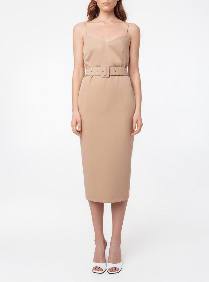 Платье с открытой спиной и поясом MGN_1715ND, фото 1 - в интернет магазине KAPSULA