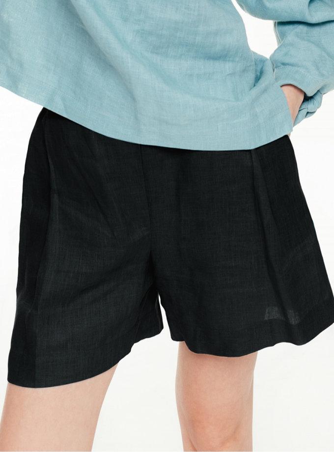 Льняные шорты со складками BLCGR_BLCN_706, фото 1 - в интернет магазине KAPSULA