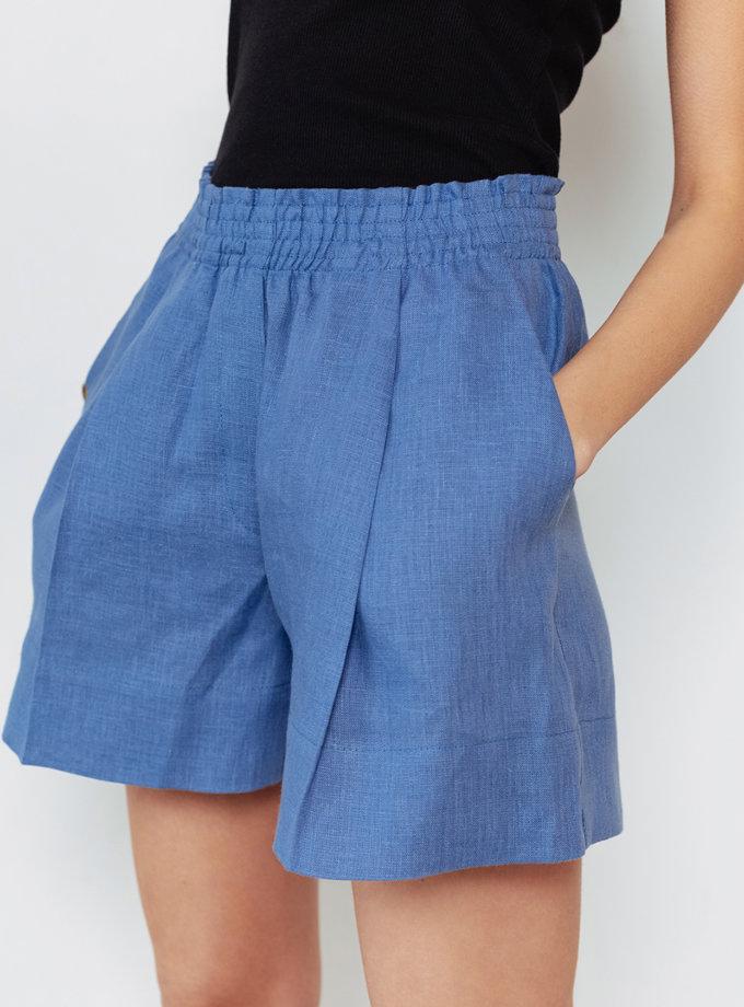 Льняные шорты со складками BLCGR_BLCN_797, фото 1 - в интернет магазине KAPSULA