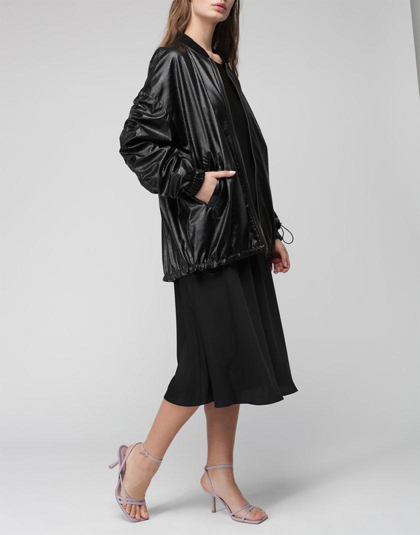 Куртка oversize из эко-кожи MISS_JA-009-black, фото 1 - в интернет магазине KAPSULA
