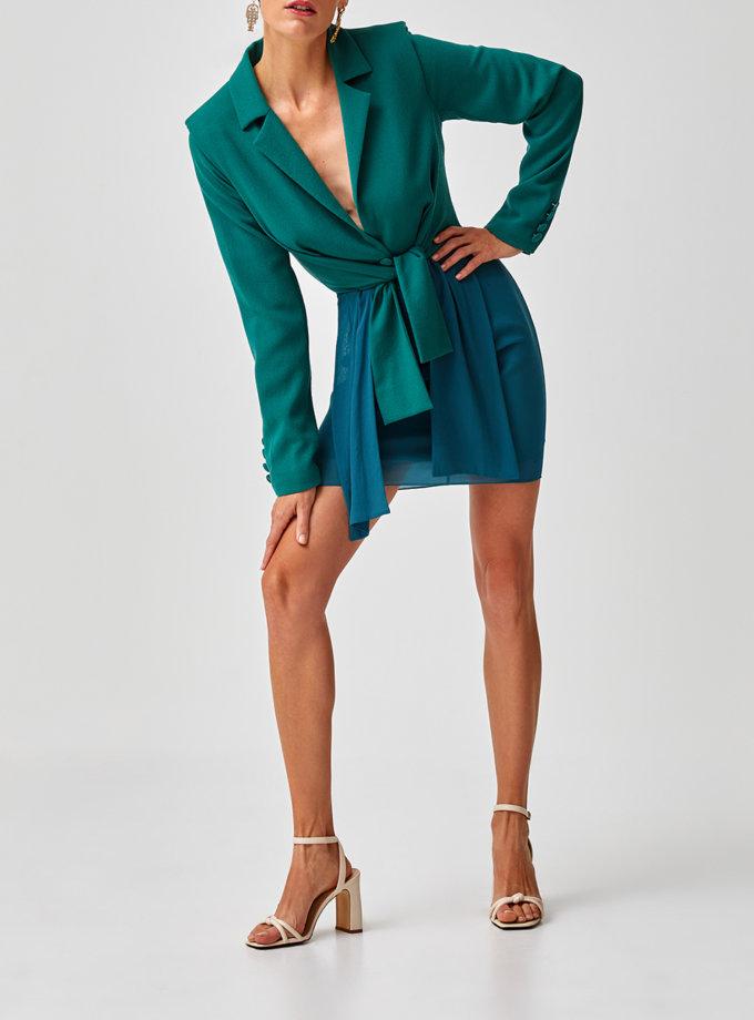 Платье мини на завязках MF-SS21-28, фото 1 - в интернет магазине KAPSULA