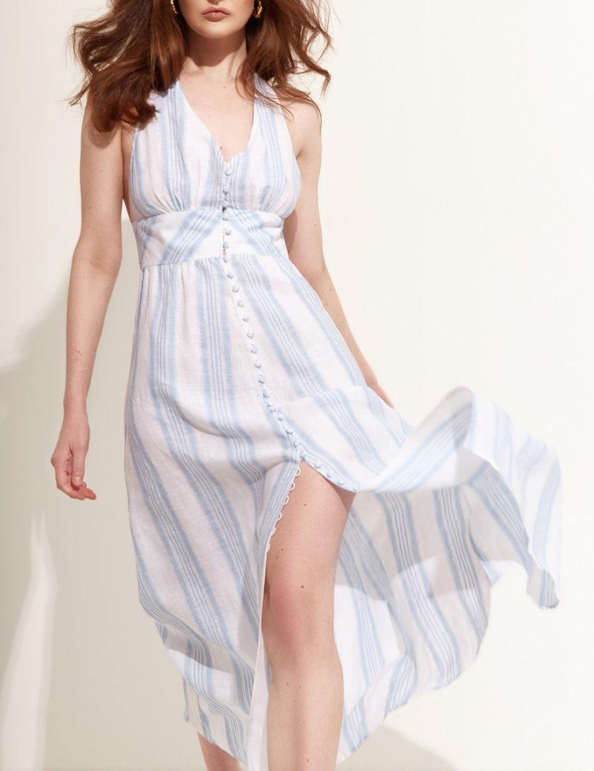 Льняное платье миди BETH_BD_SS21_2, фото 1 - в интернет магазине KAPSULA