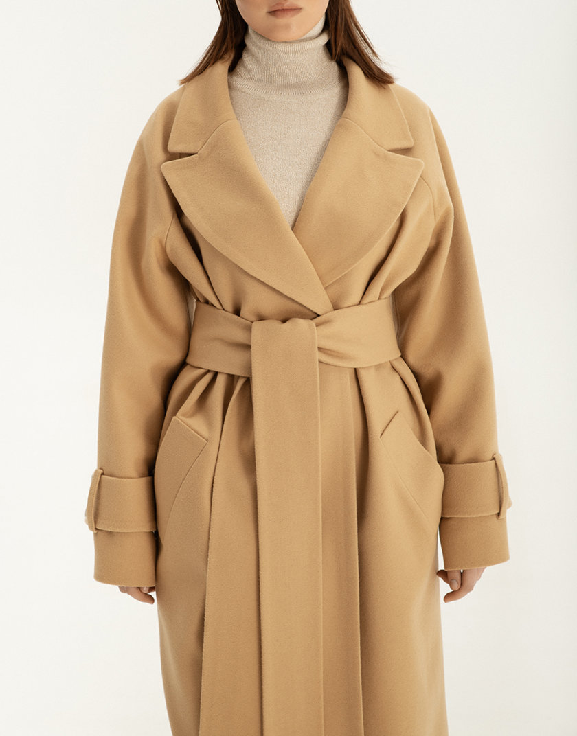 Пальто на запах из шерсти WNDR_ sp_21_coats_04, фото 1 - в интернет магазине KAPSULA