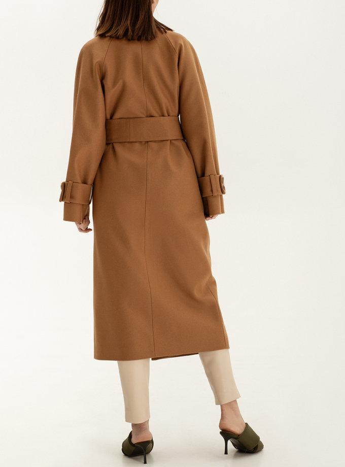 Пальто на запах из шерсти WNDR_sp_21_coatc_04, фото 1 - в интернет магазине KAPSULA