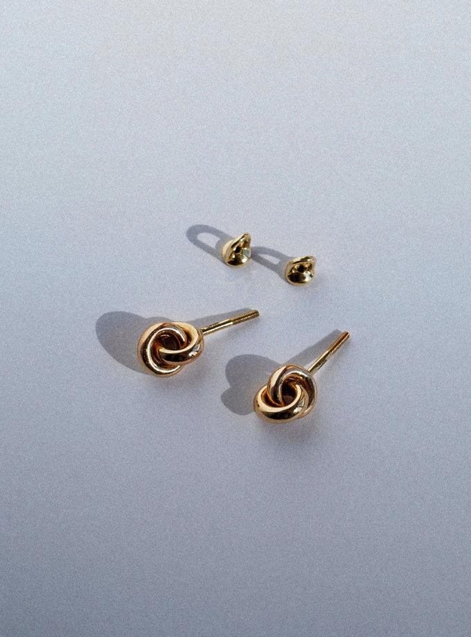 Серьги из желтого золота RAJ_E-8144, фото 1 - в интернет магазине KAPSULA
