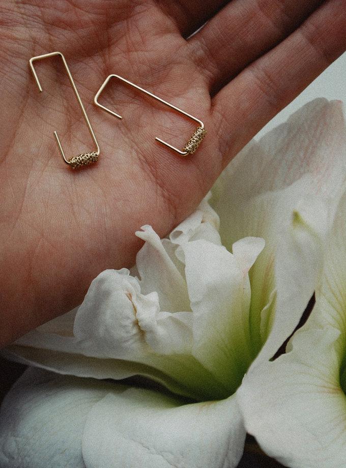 Моносерьга из желтого золота RAJ_ERA-013, фото 1 - в интернет магазине KAPSULA
