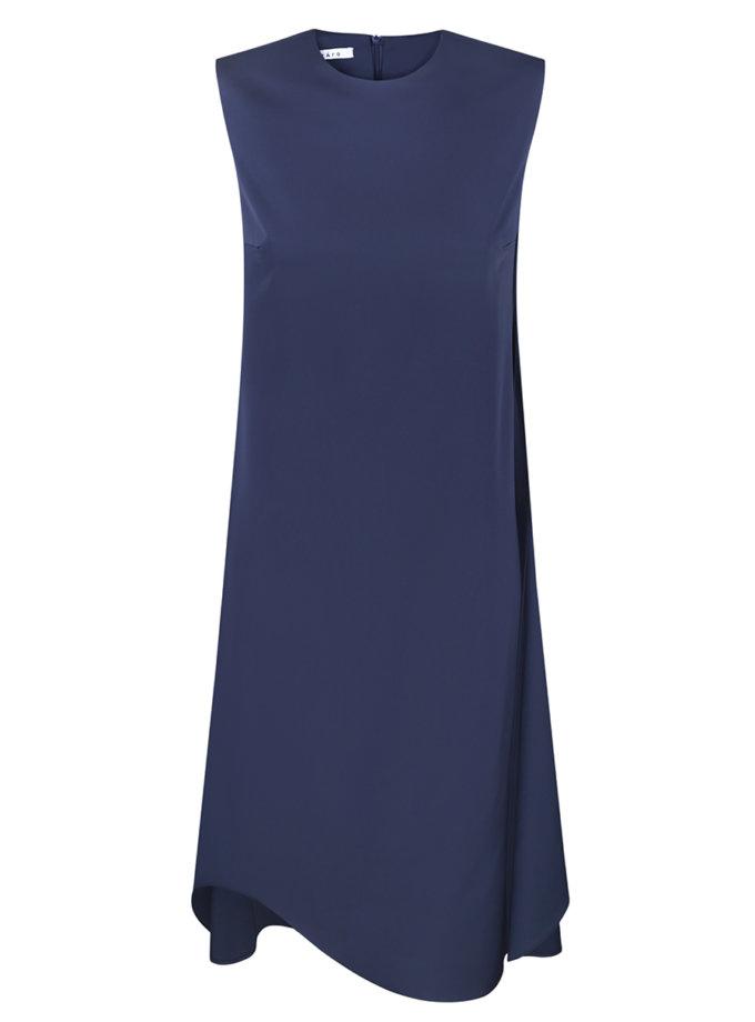 Темно-синя сукня з розрізами IRRO_IR_SS21_DB_003, фото 1 - в интернет магазине KAPSULA