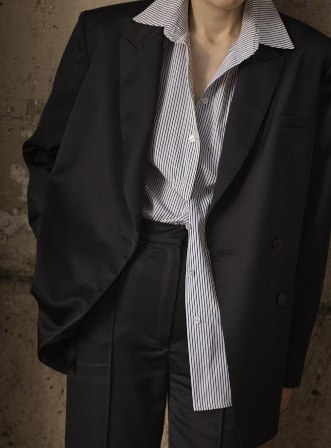 Бавовняна сорочка в смужку IRRO_IR_SS21_SS_010, фото 1 - в интернет магазине KAPSULA