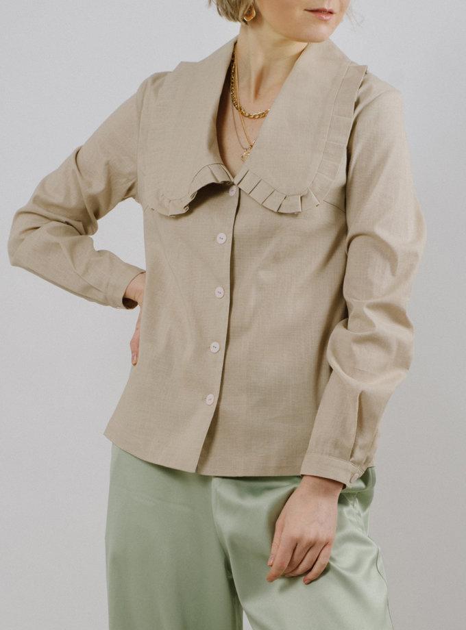 Блузка с отложным воротником MNTK_MTS2115, фото 1 - в интернет магазине KAPSULA