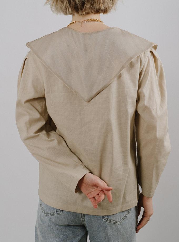 Топ с накладным воротником MNTK_MTS2116, фото 1 - в интернет магазине KAPSULA