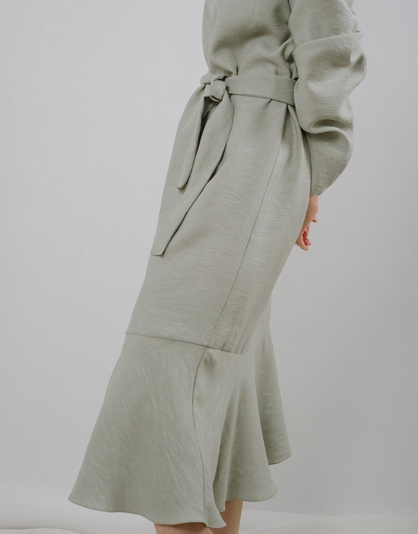 Платье с воланом MNTK_MTS2119, фото 1 - в интернет магазине KAPSULA
