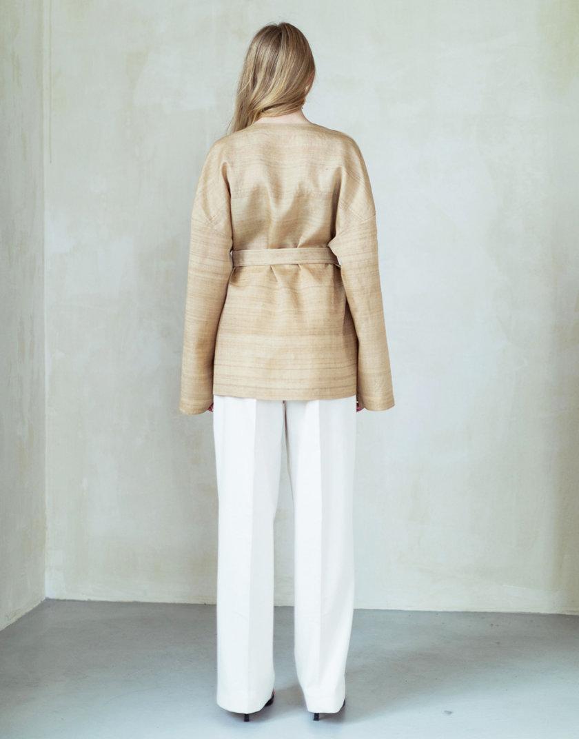 Кимоно с вышивкой из бананового шелка PURE_PO_SS21_1, фото 1 - в интернет магазине KAPSULA